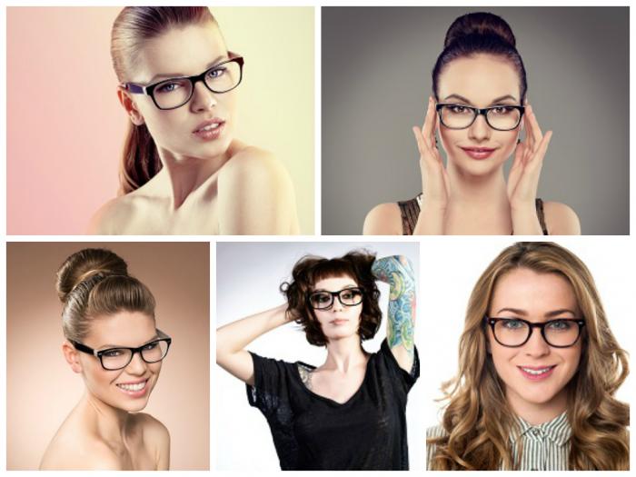 Brillenfrisurencollage