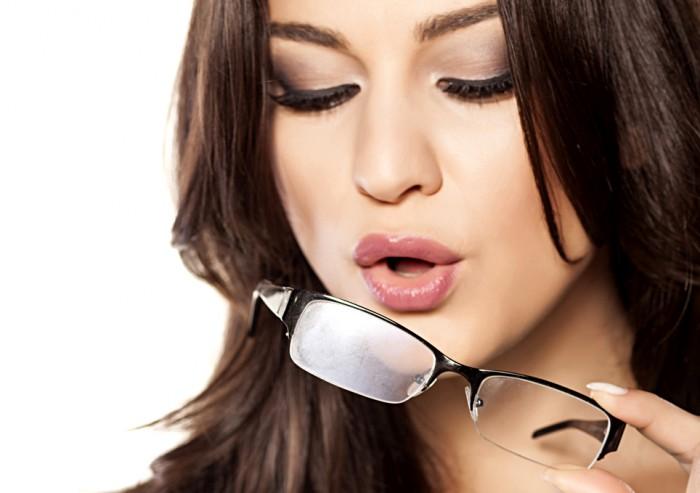 beschlagene Brille