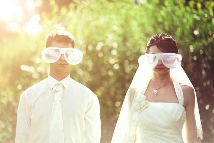 brautkleid brille